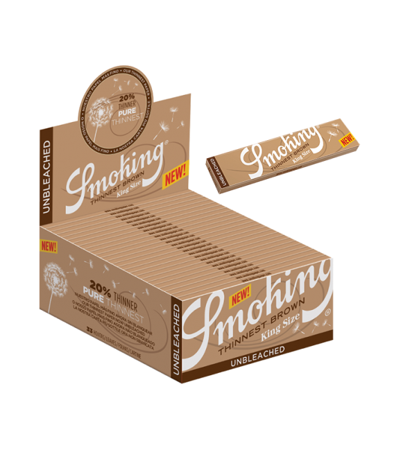 SMOKING KING SIZE THINNEST BROWN