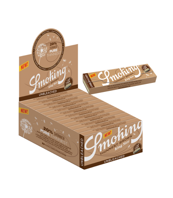 SMOKING KING SIZE THINNEST BROWN + TIPS
