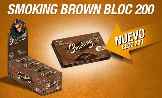 ¡NUEVO SMOKING BROWN BLOC 200!